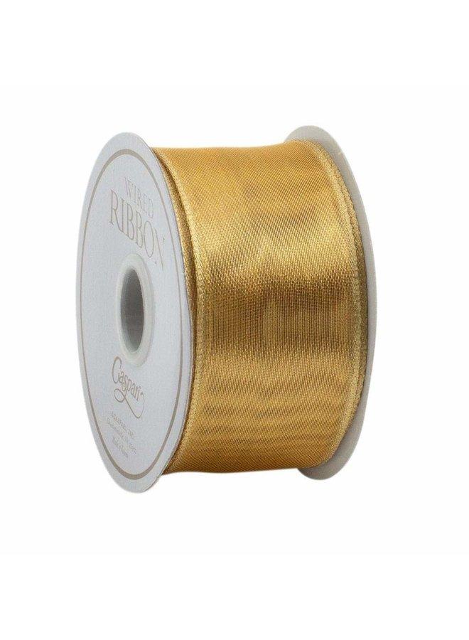 Sheer Gold Wired Ribbon - 9 Yard Spool