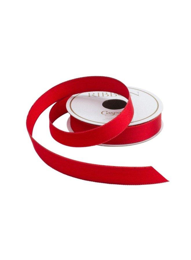 Red & Shiny Edge Satin Unwired Ribbon - 8 Yard Spool
