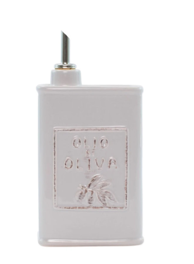 Lastra Light Gray Olive Oil Can