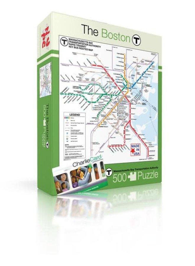 Boston T Map 500 piece Puzzle