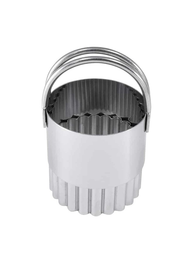 """Biscuit Cutters Fluted S/S 1.5"""""""