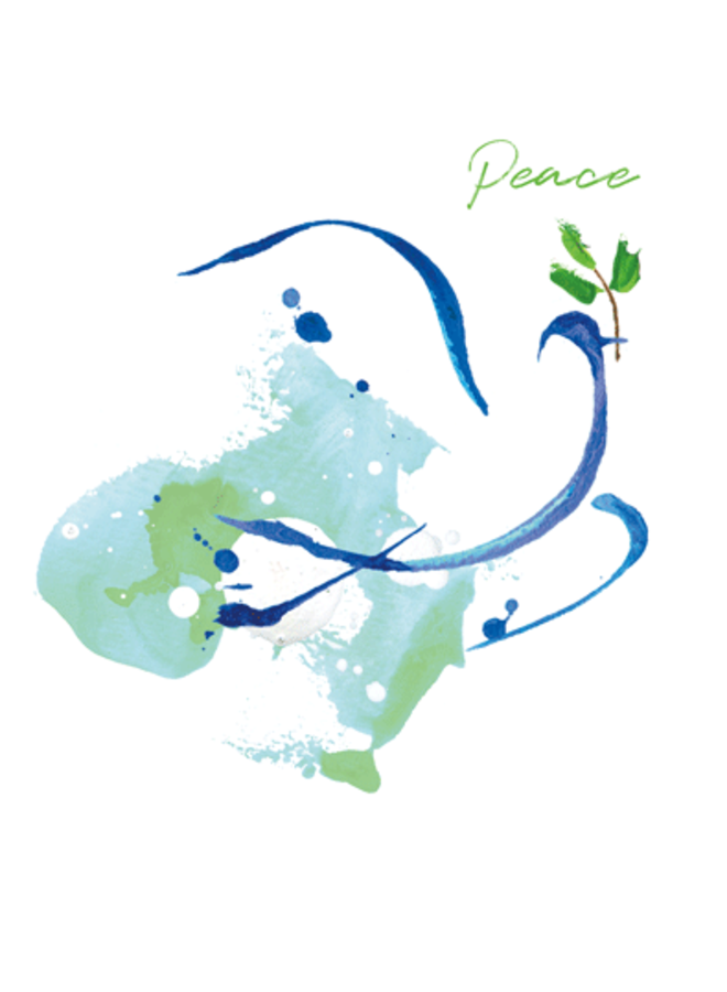 Peace Dove Cmas Card Box A Size 16 In