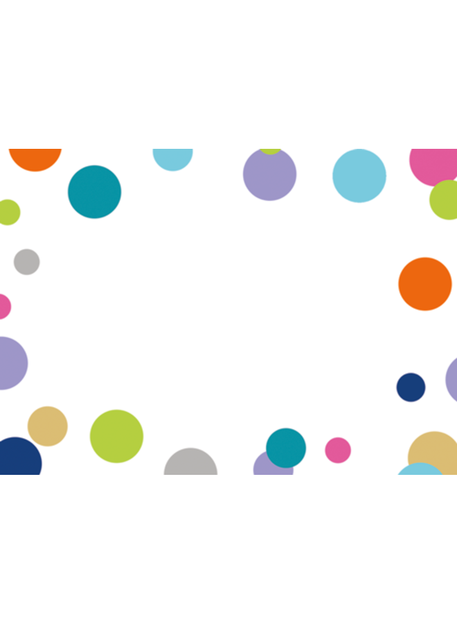 Confetti Brights Gift Enclosure Cards - 4 Mini Cards & 4 Envelopes