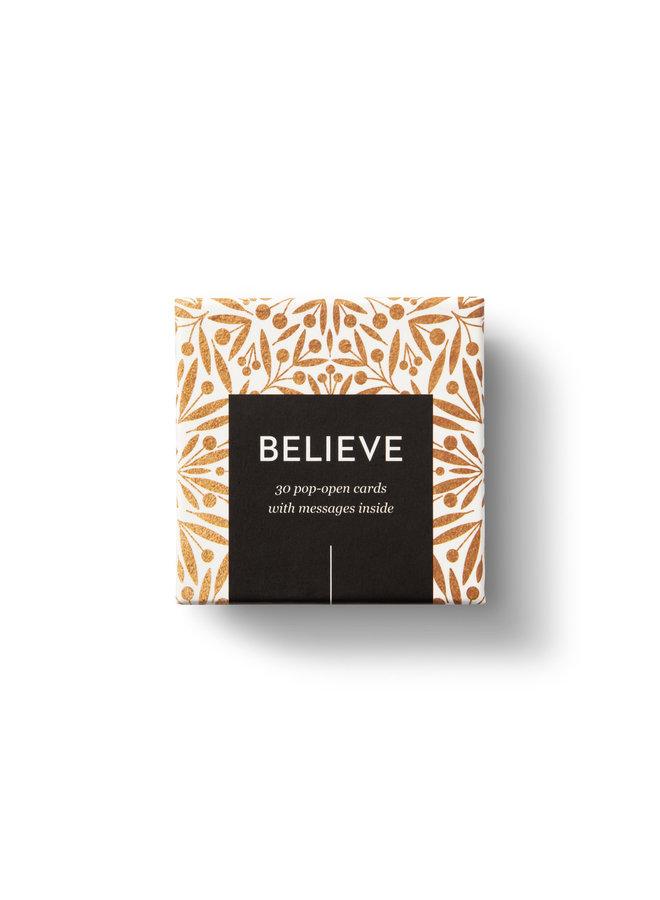 BELIEVE ThoughtFulls Pop-Open Cards
