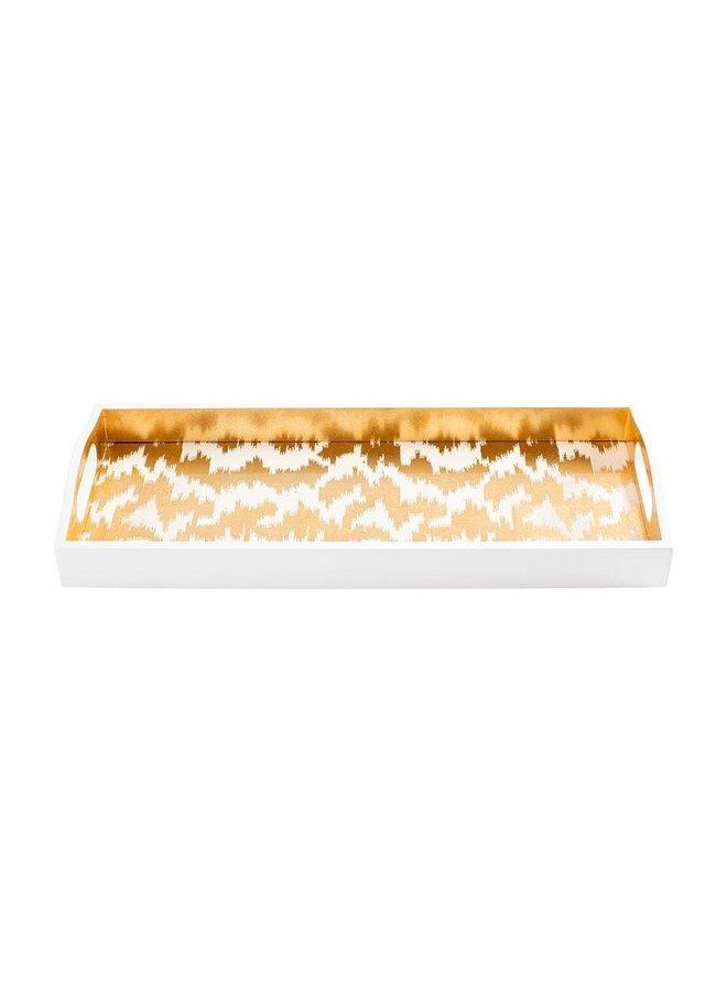 Modern Moire Gold Lacquer Bar Tray - 1 Each