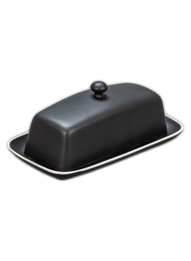 Butter Dish covered Onyx