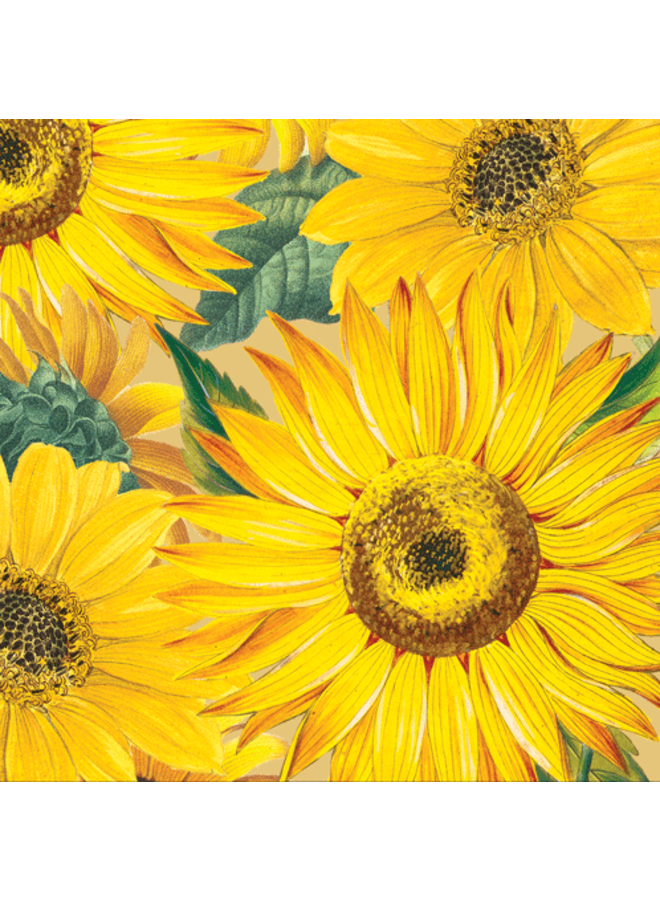 Sunflowers Paper Cocktail Napkins - 20 Per Package