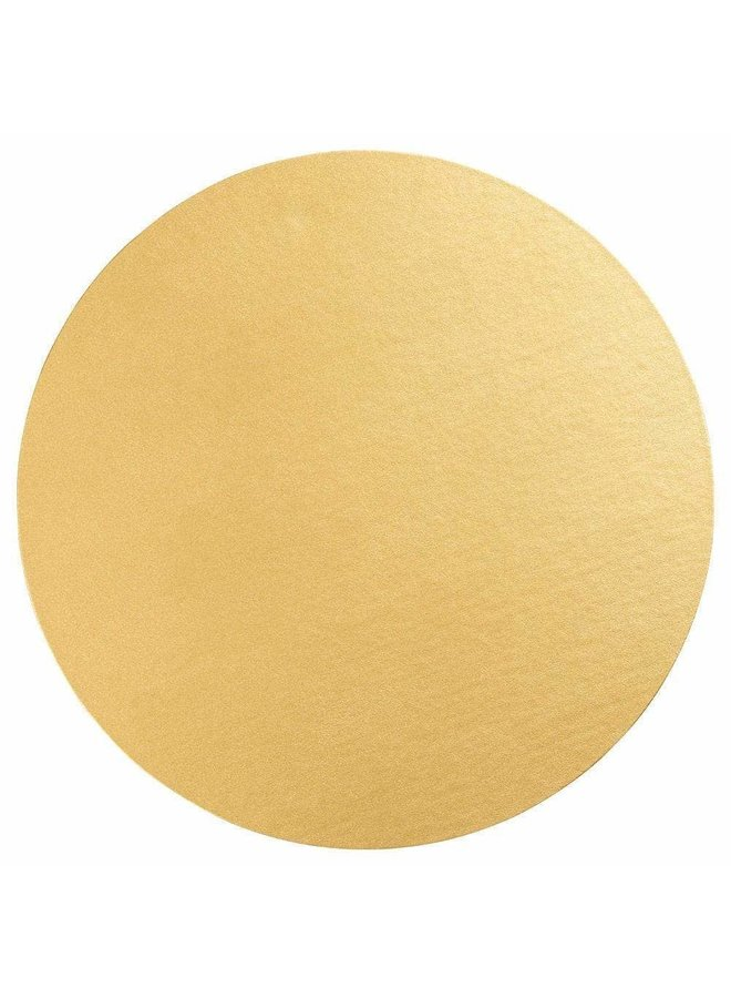 Luster Round Felt-Backed Placemat in Gold - 1 Each