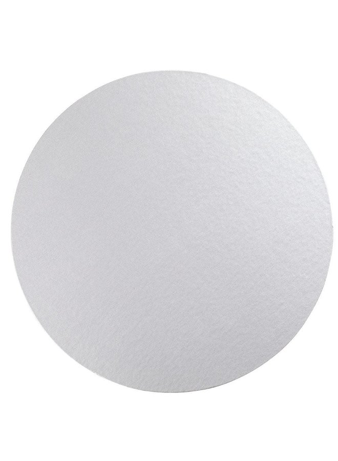 Luster Round Felt-Backed Placemat in Silver - 1 Each