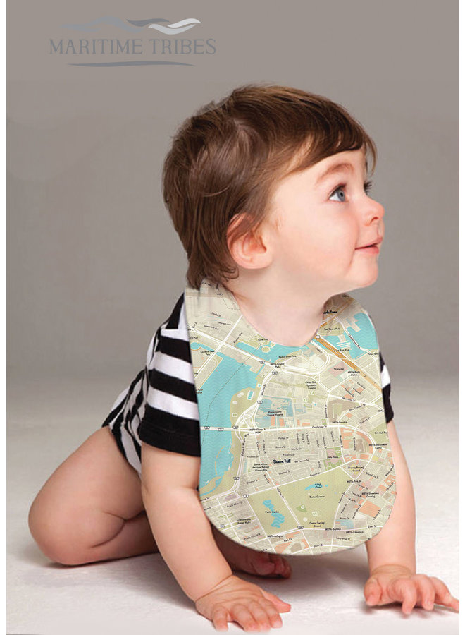 Baby Bib with Beacon Hill Map