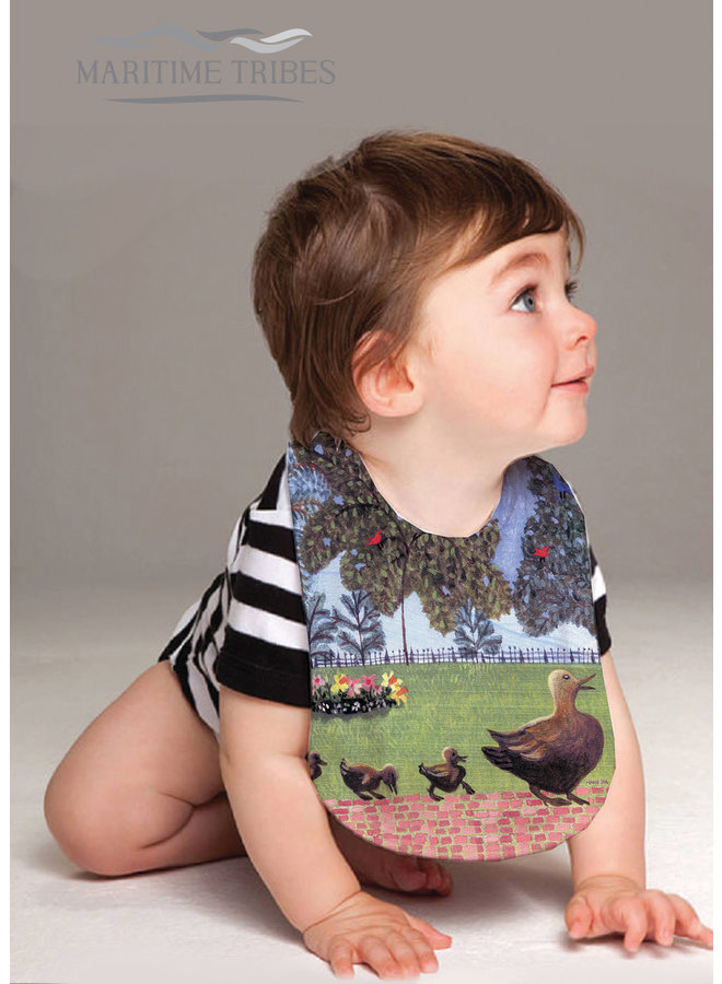 Baby Bib with our Exclusive Make Way for Ducklings Artwork