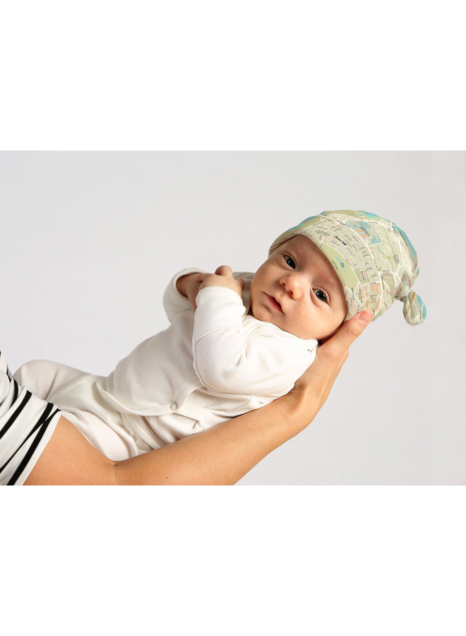 Baby Beanie Hat with Beacon Hill Map
