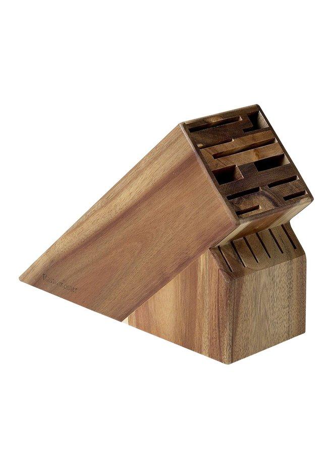 16 Slot Knife Block Acacia