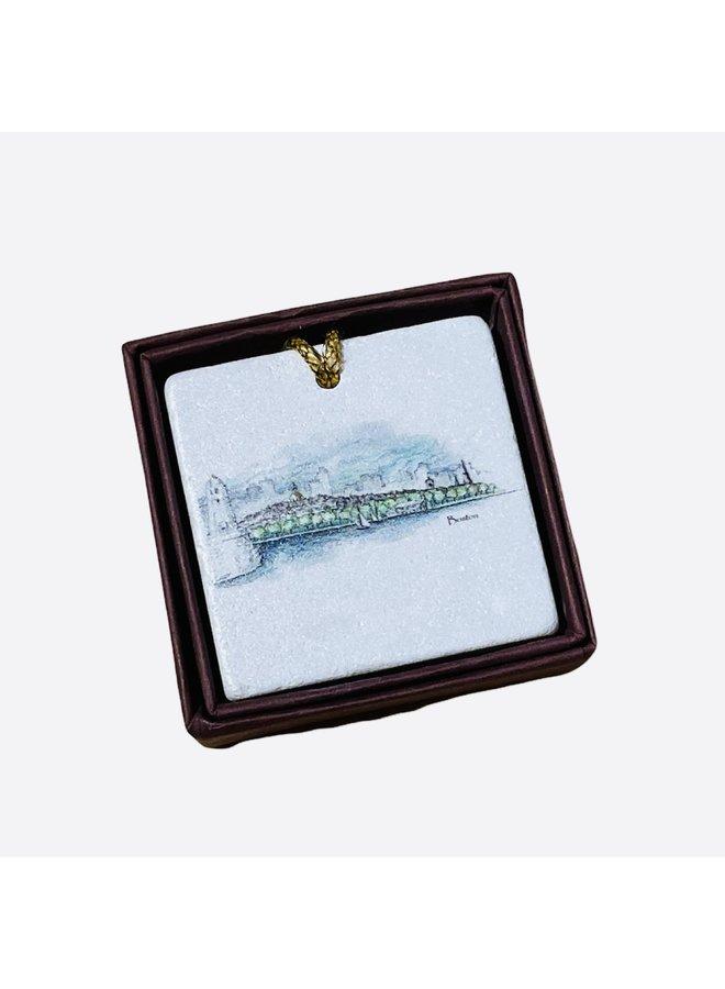 Blackstones Exclusive Boston Skyline Ornament
