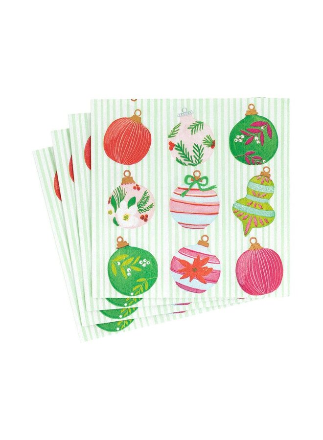 Painted Ornaments Paper Cocktail Napkins - 20 Per Package