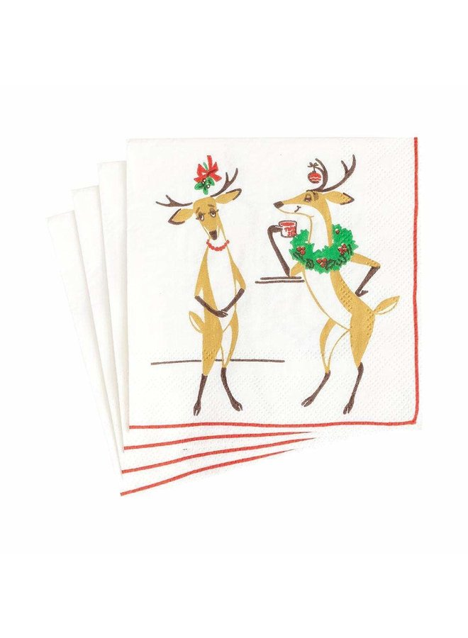 Mistletoe Meets Toddy Paper Cocktail Napkins - 20 Per Package