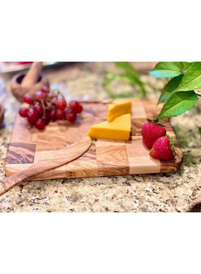Olive Wood Cheese Block