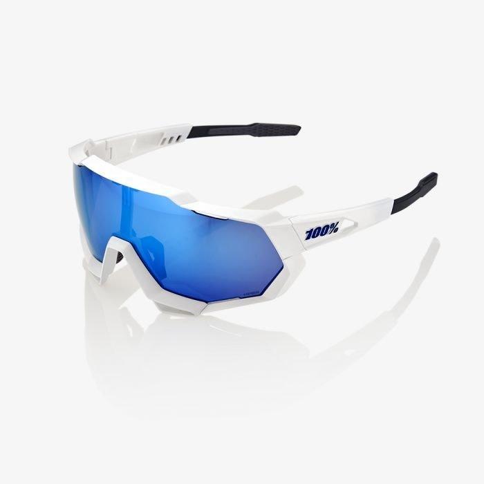 100% Speedtrap White/Hiper Blue Lens-1