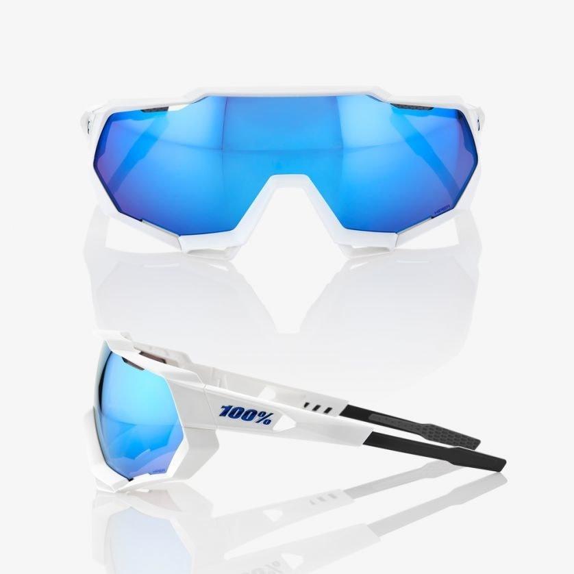 100% Speedtrap White/Hiper Blue Lens-2