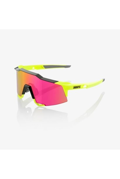 100% Speedcraft Fluro Yellow/Purple Lens