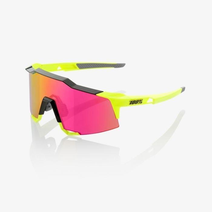 100% Speedcraft Fluro Yellow/Purple Lens-1