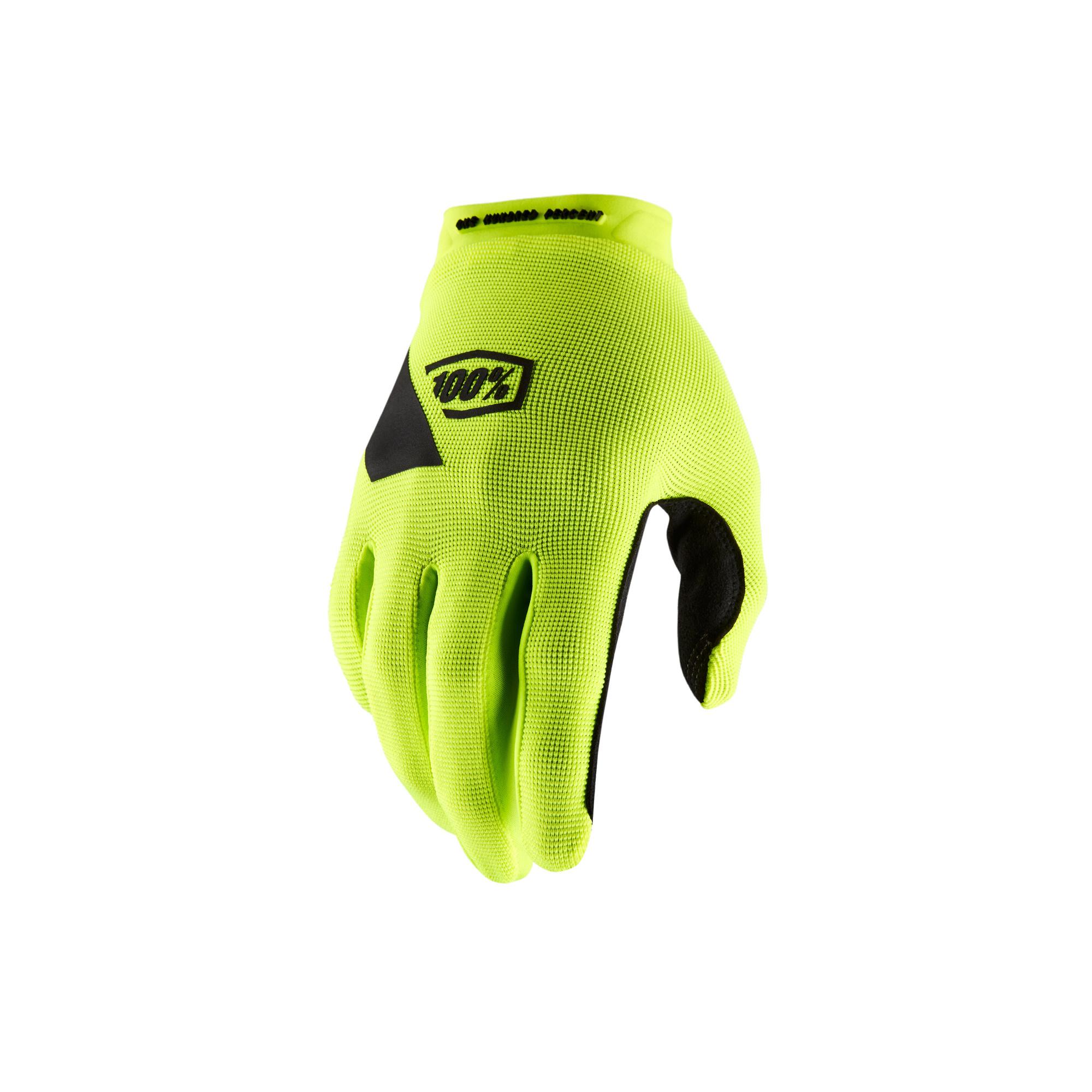 100% Ridecamp Glove Yellow-1