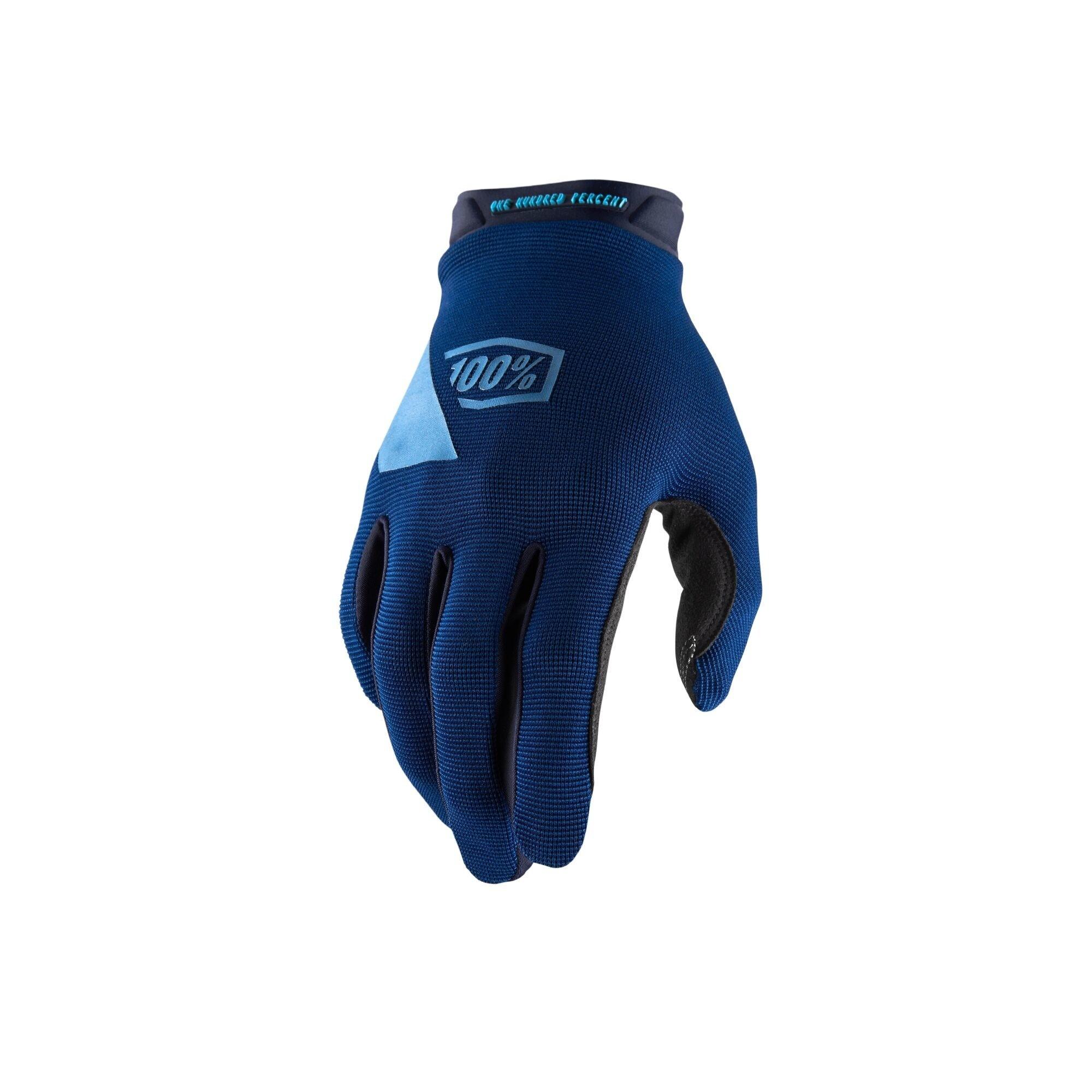 100% Ridecamp Glove Blue-1
