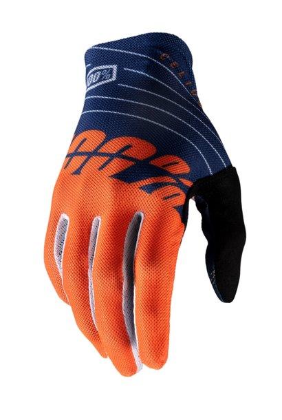100% Celium Glove Orange / Navy