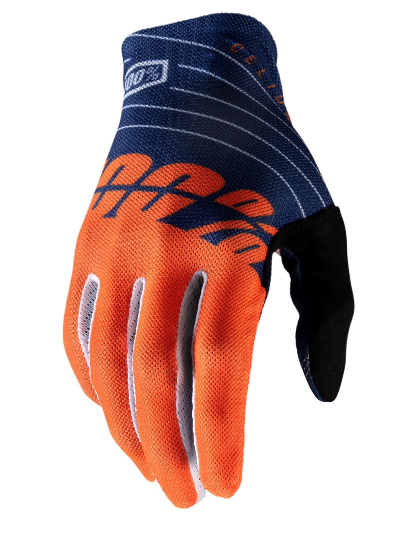 100% Celium Glove Orange / Navy-1