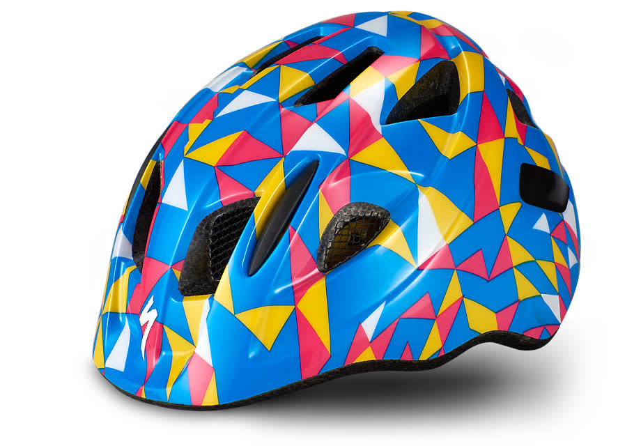 Mio Blue Yellow Geo Helmet Toddler-1