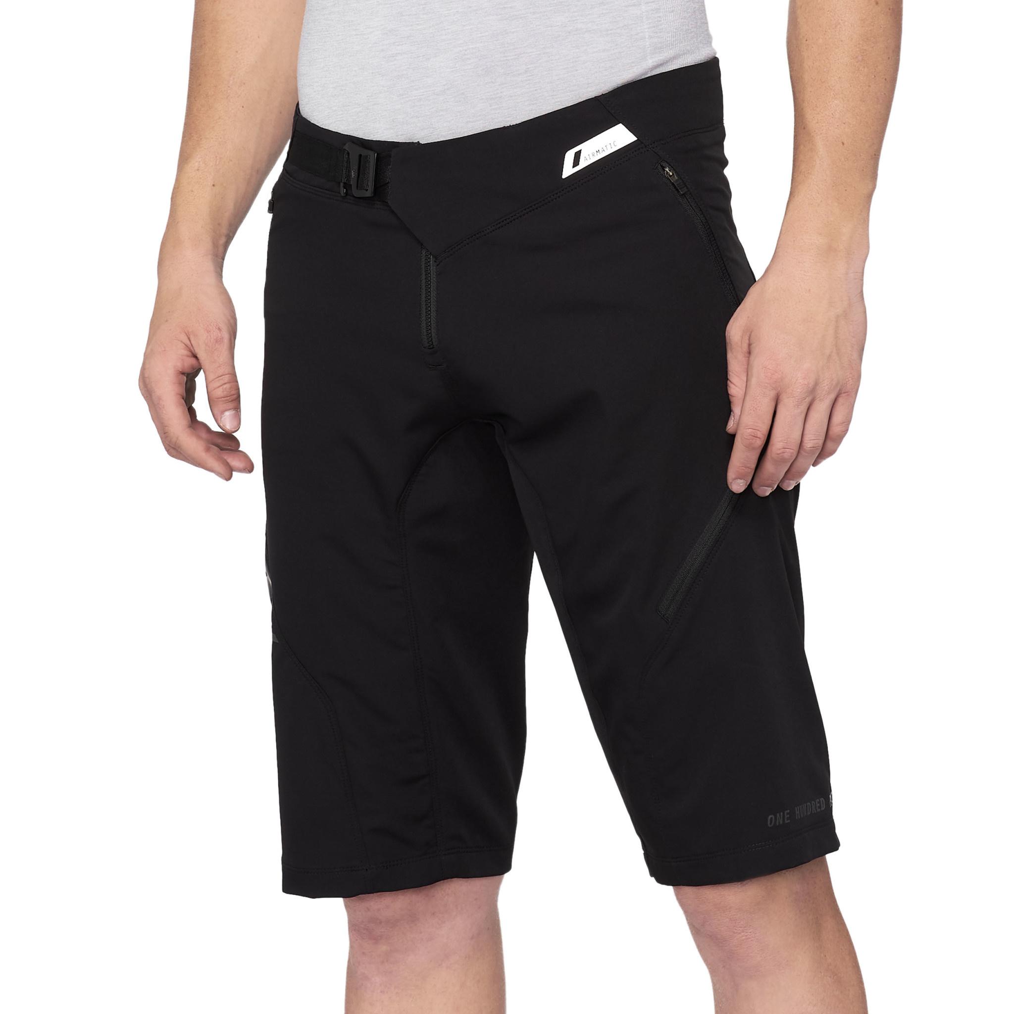 100% Airmatic Shorts Black-1