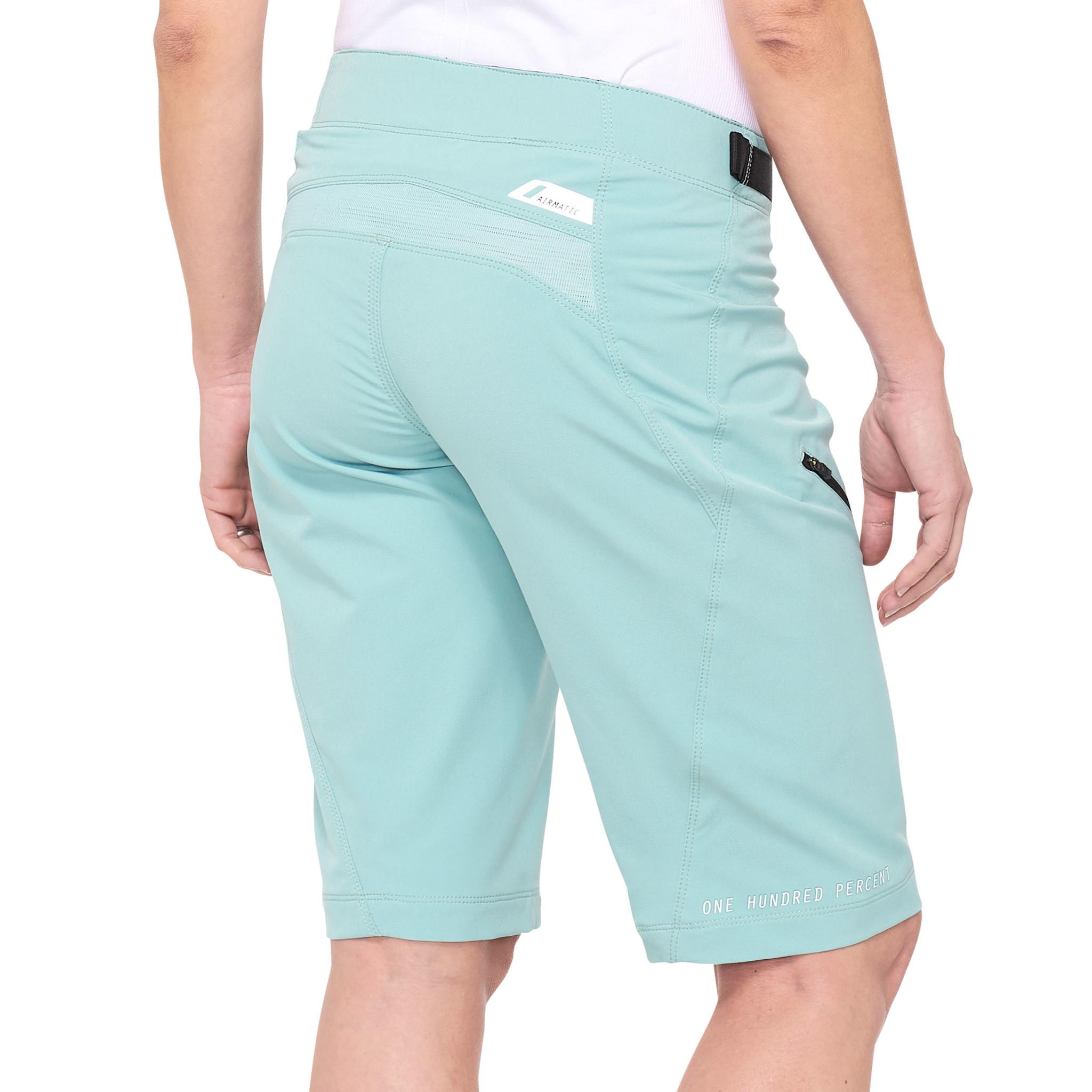 100% Airmatic Womens Short Sea Foam-2