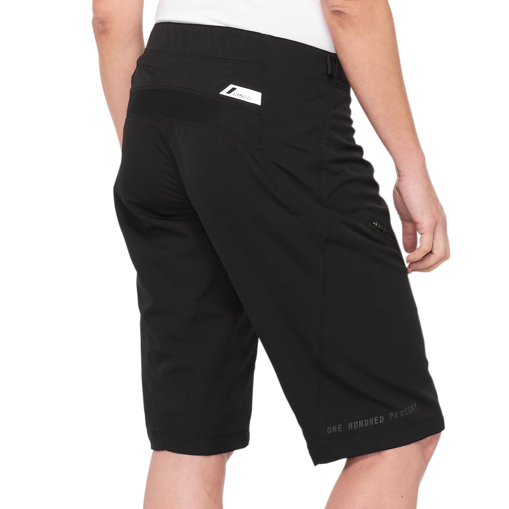 100% Airmatic Womens Short Black-2