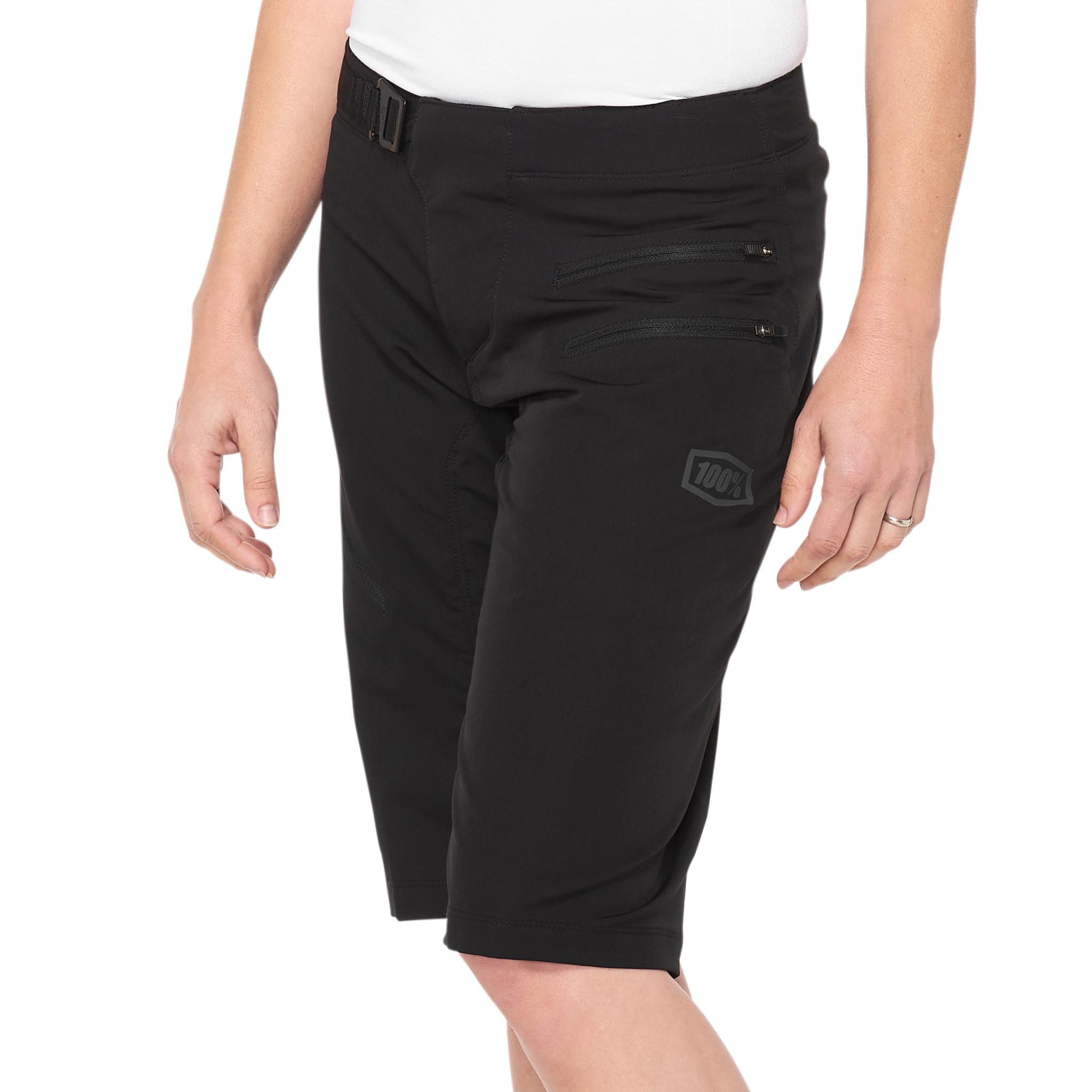 100% Airmatic Womens Short Black-1