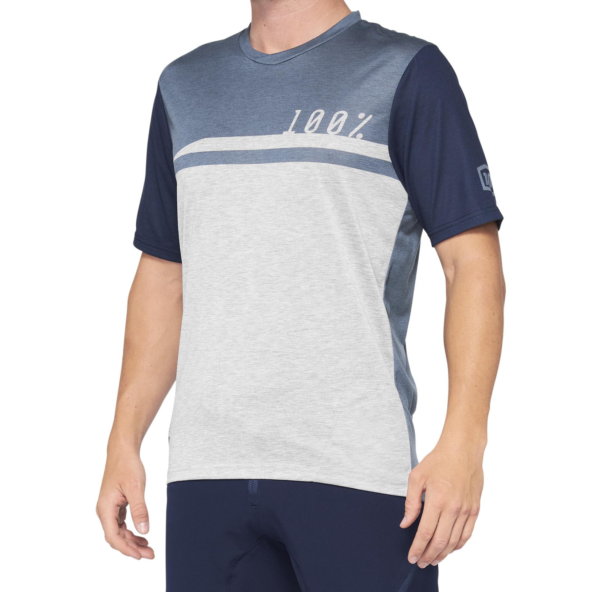 100% Airmatic Jersey Steel Blue / Grey-1