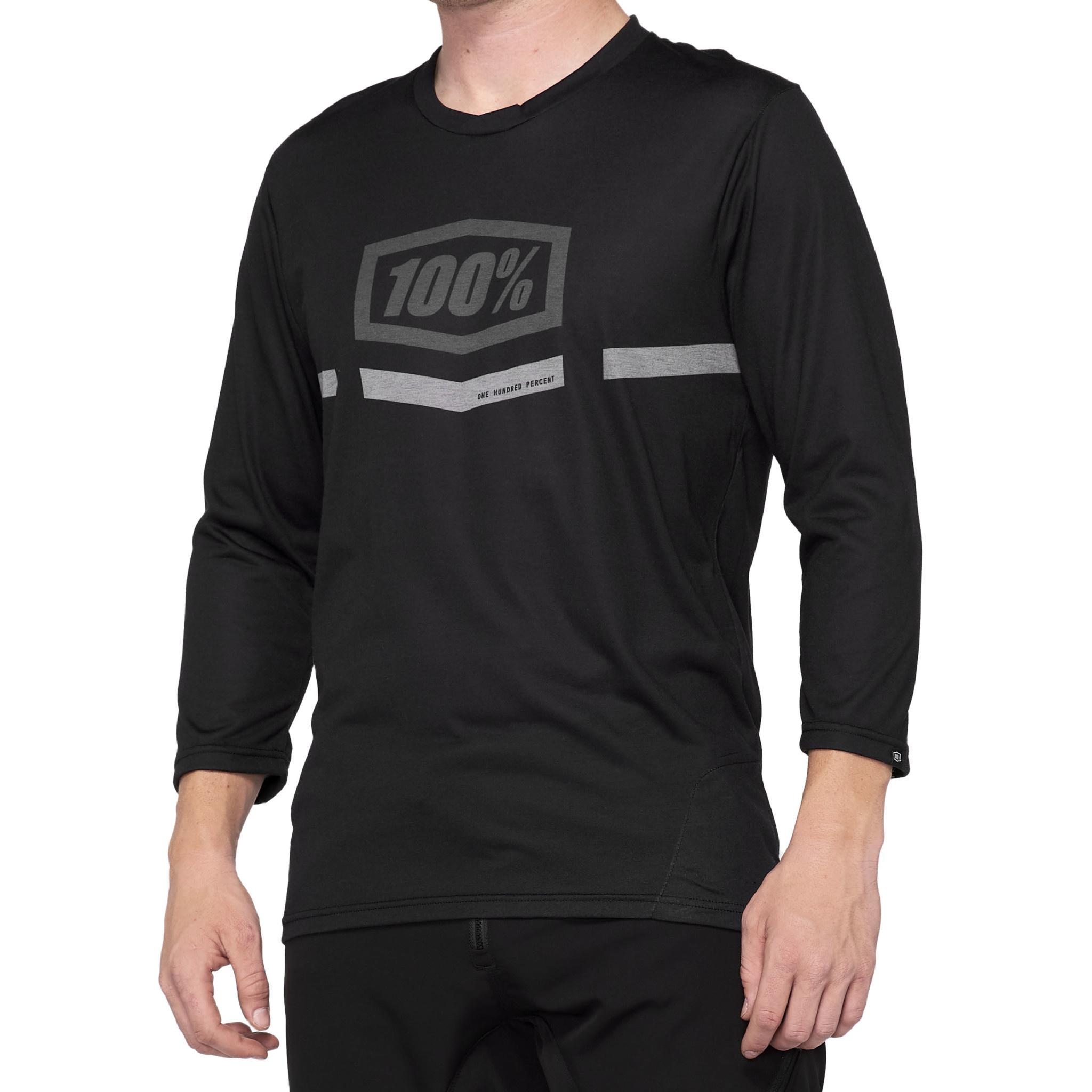 100% Airmatic 3/4 jersey Black-1
