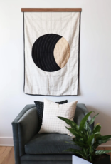 Anchal Project Small Crescent Lattice Quilt Throw