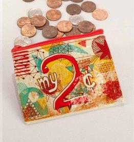 Blue Q My 2 Cents Coin Purse