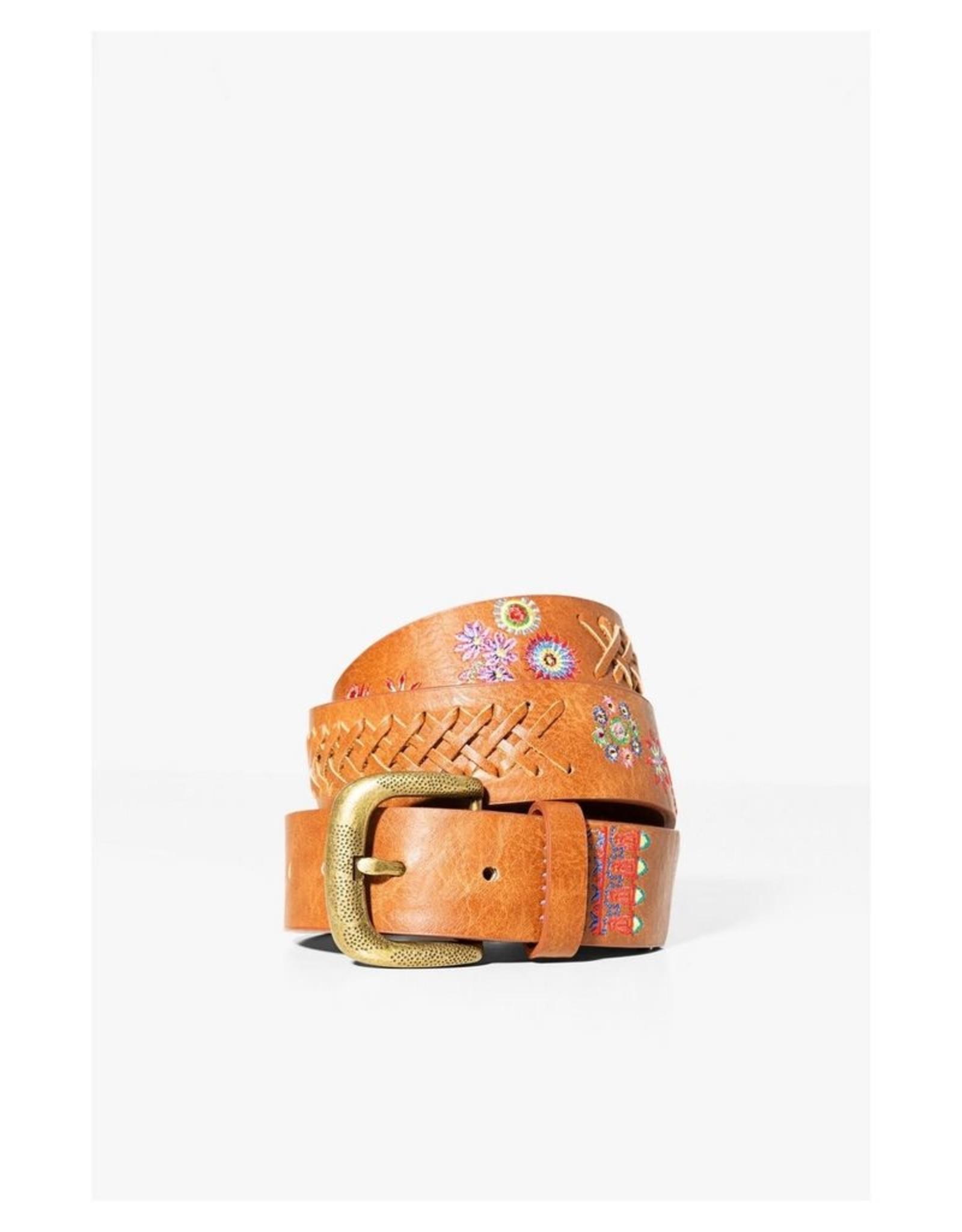 Desigual Embroidered Belt, Floral-Mex