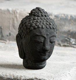 "Garden Age Buddha Head Large 6""H-Volcanic Ash"