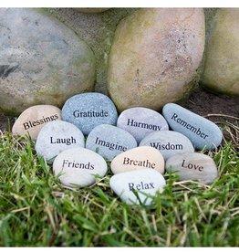 Garden Age Natural Beach Pebble with Engraving