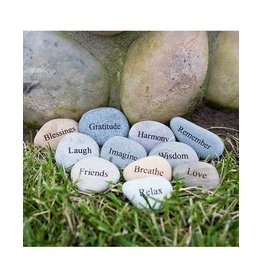 Garden Age 2-3â€ù Natural Beach Pebble with Engraving