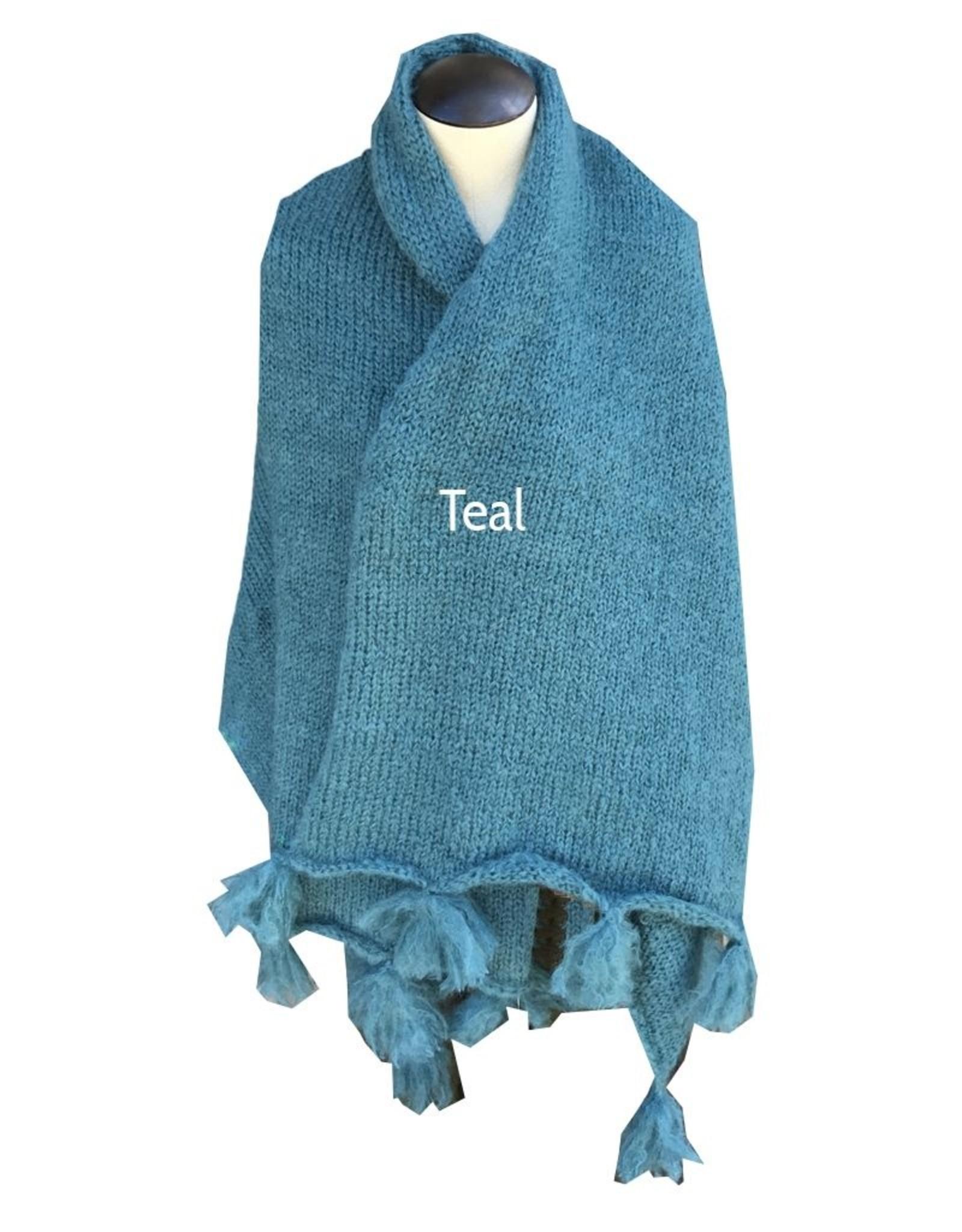Nomvula's Knitters Mohair Shawl, Throw