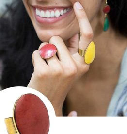 Matr Boomie Tara Stone Ring-Red
