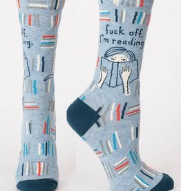 Blue Q Fuck Off, I'm Reading Women's Crew Socks