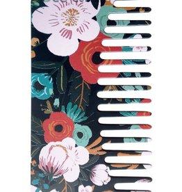 Go-Comb Plastic Midnight Floral Comb
