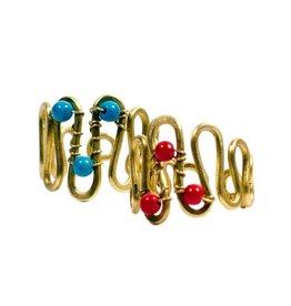 Matr Boomie Curve wire multicolor rings
