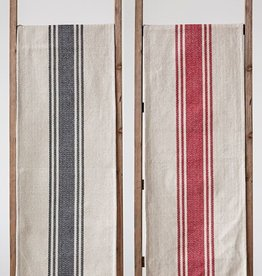 Creative Co-op Cotton Canvas Table Runner w/  Stripes
