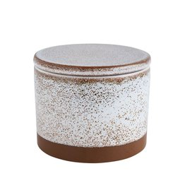 "Creative Co-op 6"" Round x 5""H Stoneware Canister w/ Reactive Glaze"