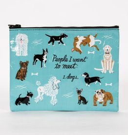 Blue Q People I'd Like To Meet: Dogs Zipper Pouch